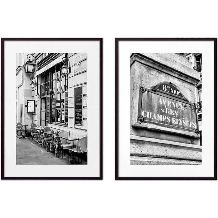 Набор из 2-х постеров Дом Корлеоне Коллаж Париж №8 30х40 см 2 шт.