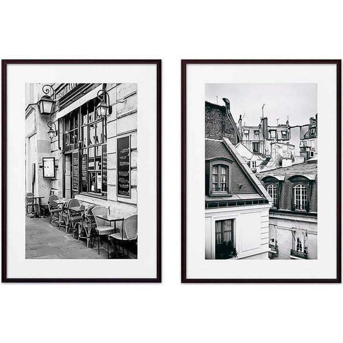 Набор из 2-х постеров Дом Корлеоне Коллаж Париж №9 40х60 см 2 шт.