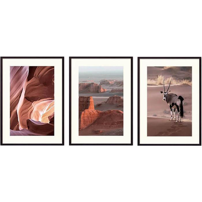 Набор из 3-х постеров Дом Корлеоне Коллаж Природа №141 50х70 см 3 шт.