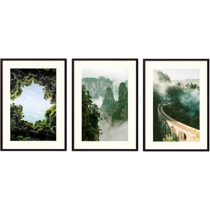 Набор из 3-х постеров Дом Корлеоне Коллаж Природа №156 21х30 см 3 шт.