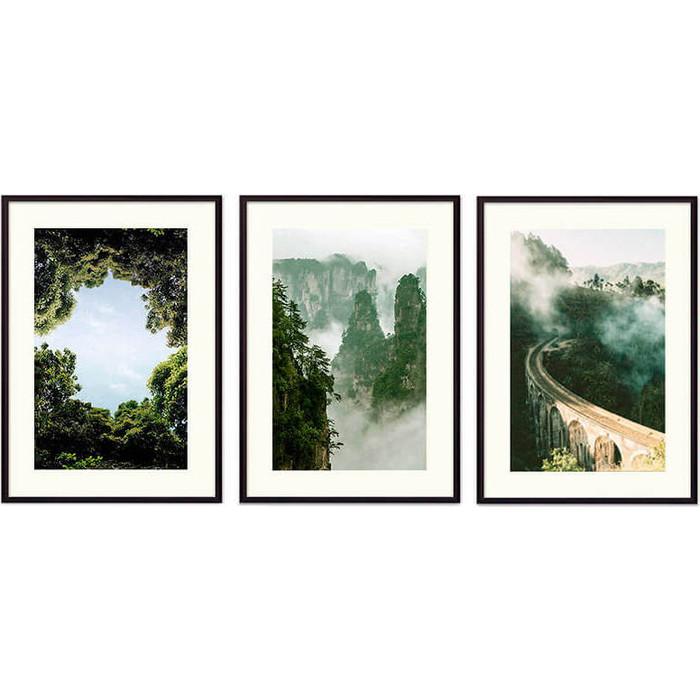 Набор из 3-х постеров Дом Корлеоне Коллаж Природа №156 30х40 см 3 шт.