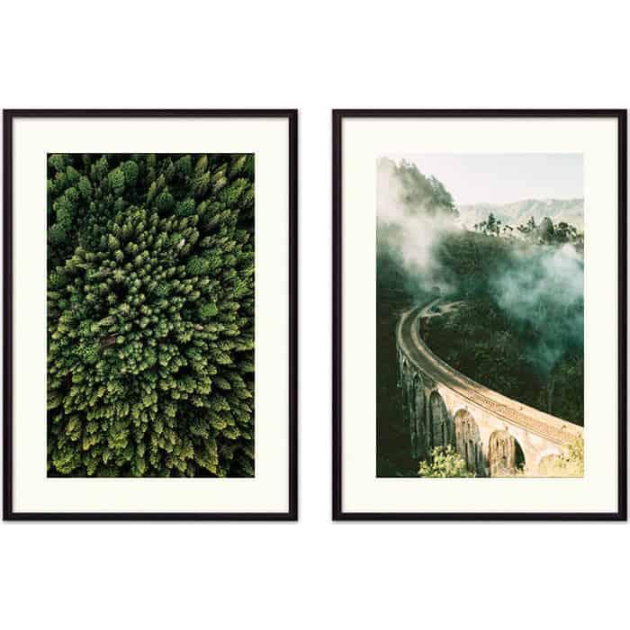 Набор из 2-х постеров Дом Корлеоне Коллаж Природа №37 50х70 см 2 шт.