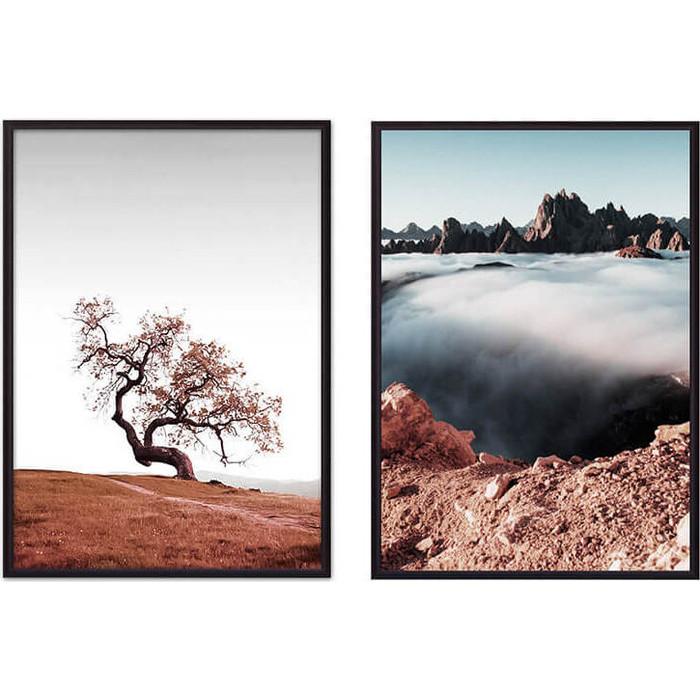 Набор из 2-х постеров Дом Корлеоне Коллаж Природа №58 40х60 см 2 шт. набор из 2 х постеров дом корлеоне коллаж природа 73 40х60 см 2 шт