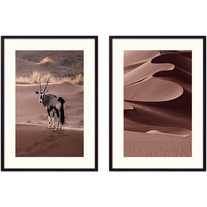 Набор из 2-х постеров Дом Корлеоне Коллаж Природа №90 40х60 см 2 шт.