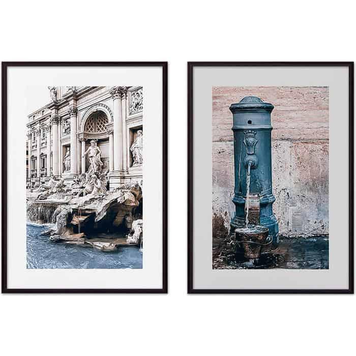 Набор из 2-х постеров Дом Корлеоне Коллаж Рим №11 50х70 см 2 шт.