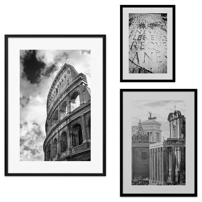 Набор из 3-х постеров Дом Корлеоне Коллаж Рим №16 30х40 см 1 шт., 40х60 50х70 1шт.