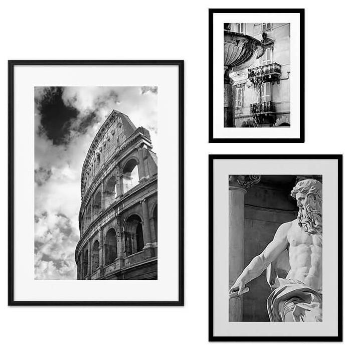 Набор из 3-х постеров Дом Корлеоне Коллаж Рим №19 30х40 см 1 шт., 40х60 50х70 1шт.