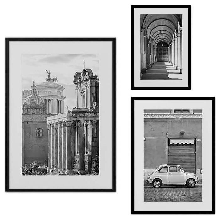 Набор из 3-х постеров Дом Корлеоне Коллаж Рим №33 30х40 см 1 шт., 40х60 50х70 1шт.