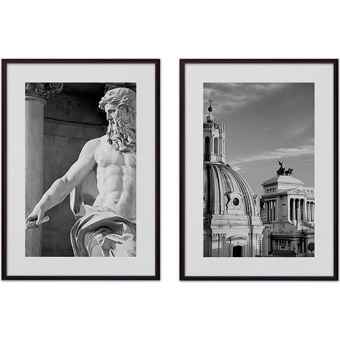 Набор из 2-х постеров Дом Корлеоне Коллаж Рим №9 40х60 см 2 шт.