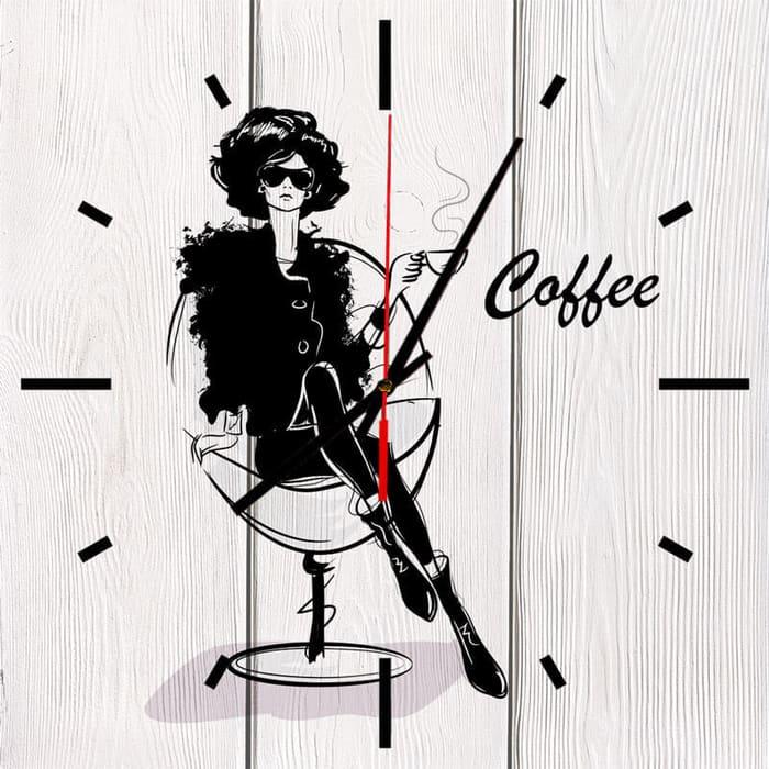 Настенные часы Дом Корлеоне Кофе 40x40 см