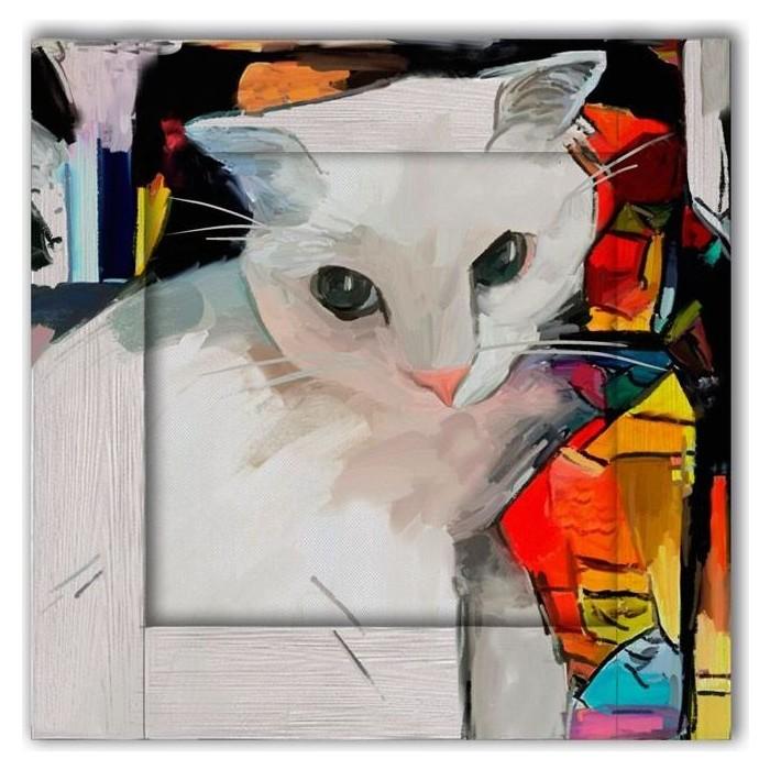 Картина с арт рамой Дом Корлеоне Кошка 80x80 см