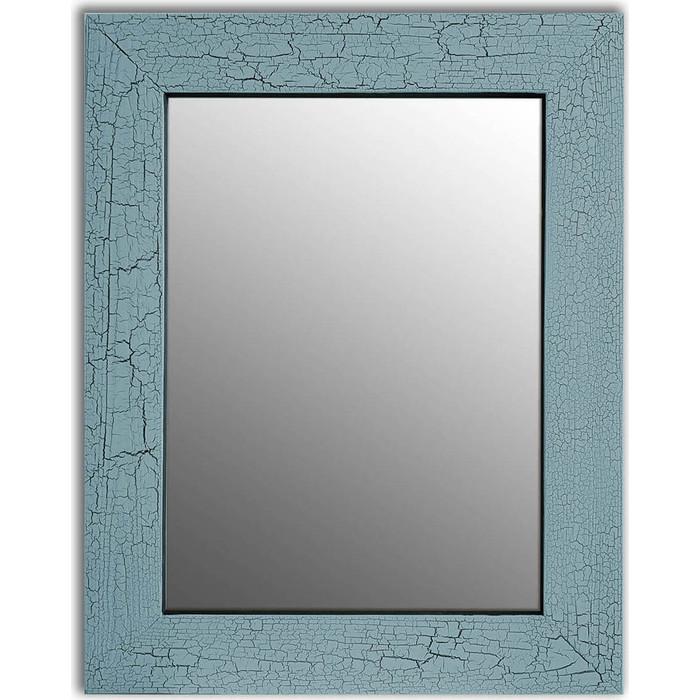Настенное зеркало Дом Корлеоне Кракелюр Голубой 80x80 см