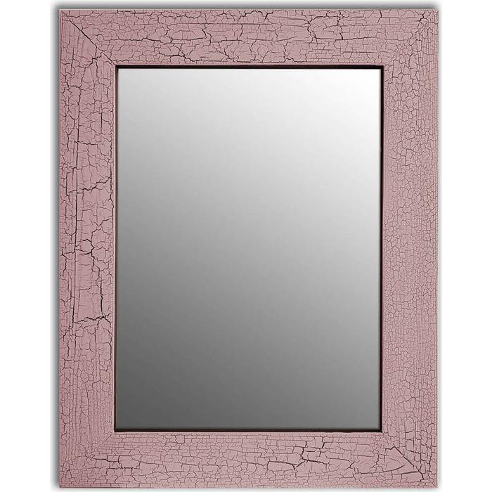 Настенное зеркало Дом Корлеоне Кракелюр Розовый 80x80 см