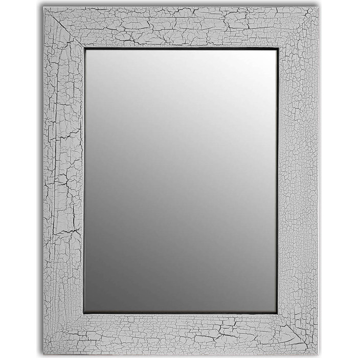 Настенное зеркало Дом Корлеоне Кракелюр Серый 80x80 см