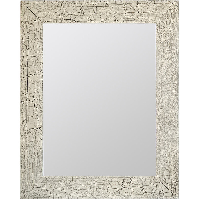 Настенное зеркало Дом Корлеоне Кракелюр Слоновая кость 65x65 см