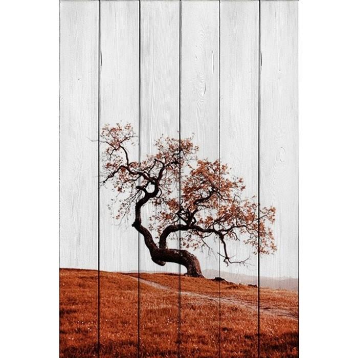 Картина на дереве Дом Корлеоне Красное дерево 80x120 см