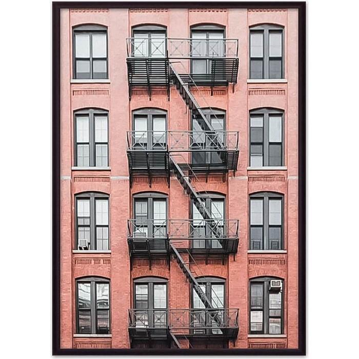 Постер в рамке Дом Корлеоне Красный дом с лестницей 40x60 см