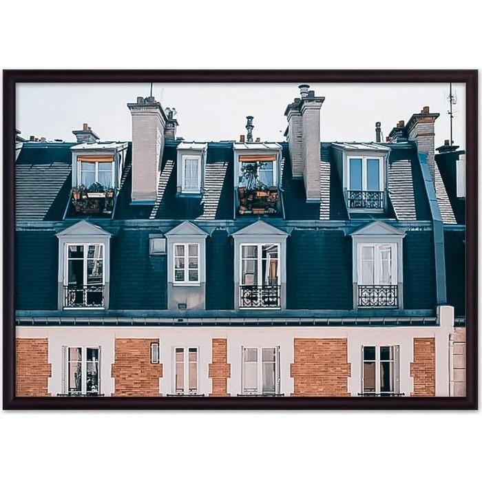Фото - Постер в рамке Дом Корлеоне Крыша дома Париж 40x60 см постер в рамке дом корлеоне гаргулья париж 40x60 см