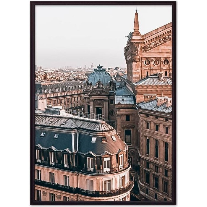 Постер в рамке Дом Корлеоне Крыши Париж 50x70 см постер в рамке дом корлеоне метро париж 50x70 см