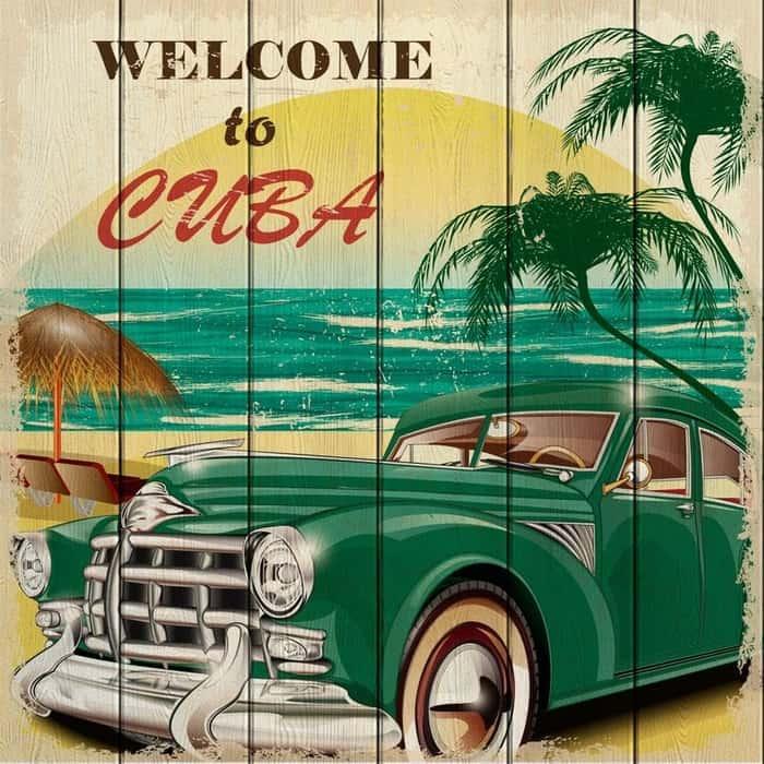 Картина на дереве Дом Корлеоне Куба 60x60 см