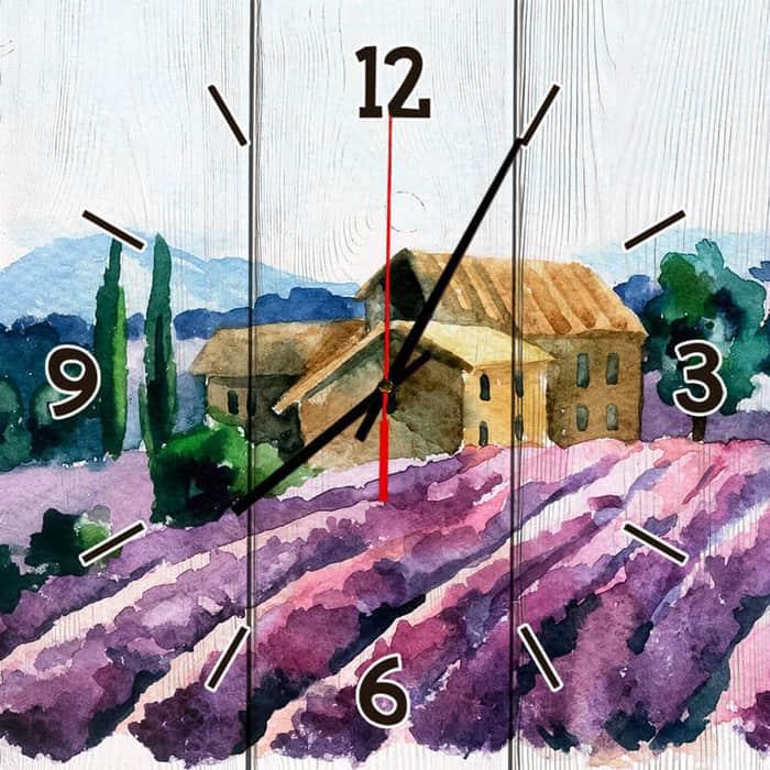 Настенные часы Дом Корлеоне Лавандовое поле 30x30 см