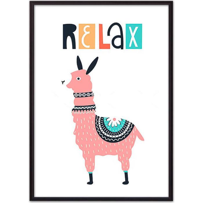 Постер в рамке Дом Корлеоне Лама Relax 40x60 см