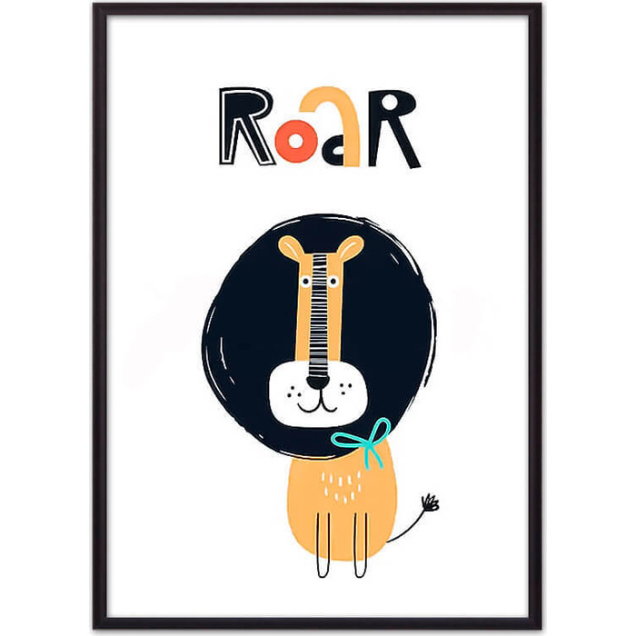 Постер в рамке Дом Корлеоне Лев Roar 40x60 см