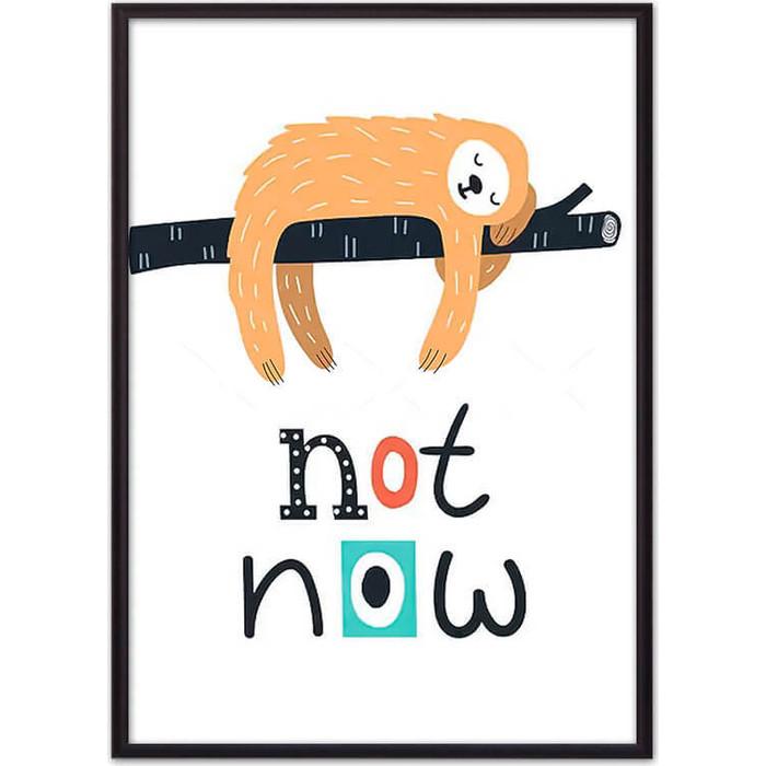 Постер в рамке Дом Корлеоне Ленивец Not now 50x70 см