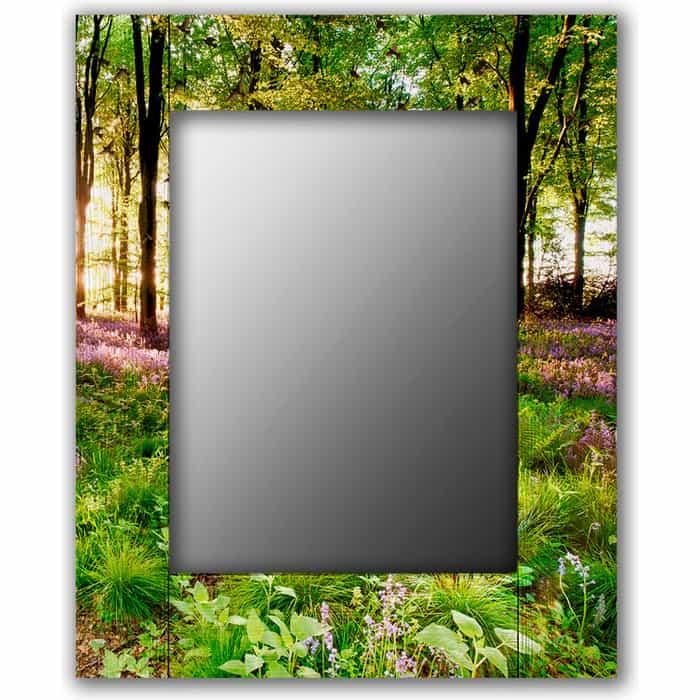 Настенное зеркало Дом Корлеоне Лесные цветы 50x65 см