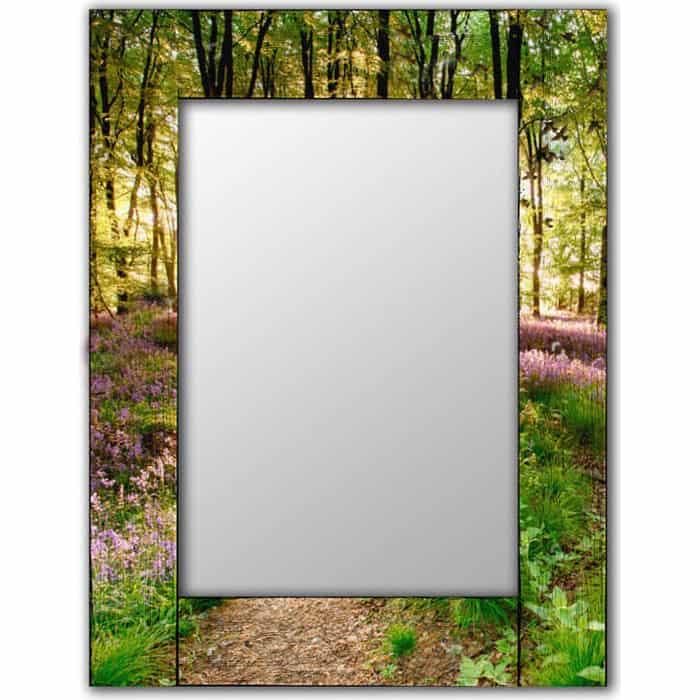 Настенное зеркало Дом Корлеоне Лесные цветы 80x80 см