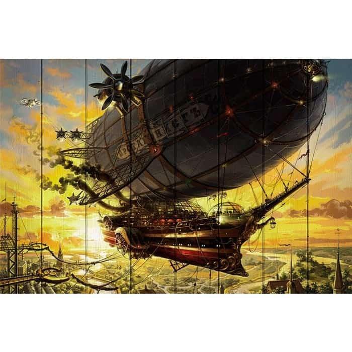 Картина на дереве Дом Корлеоне Летучий корабль 80x120 см