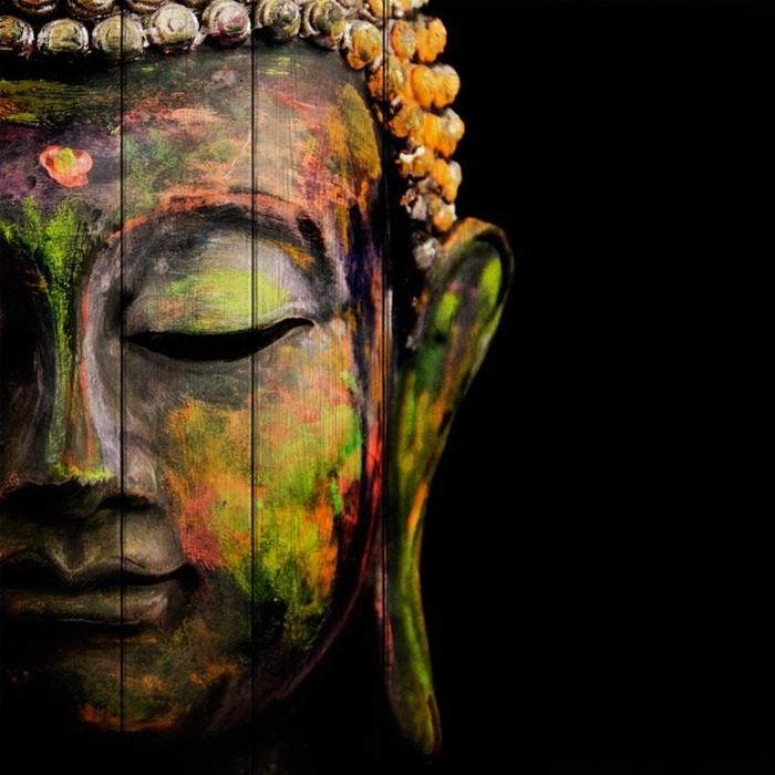 Картина на дереве Дом Корлеоне Лик Будды 150x150 см
