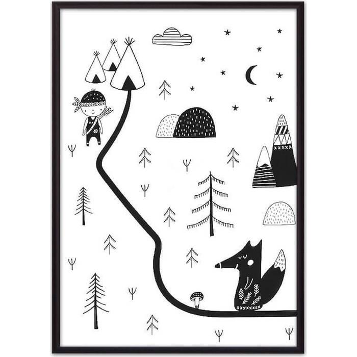 Постер в рамке Дом Корлеоне Лисья охота 50x70 см