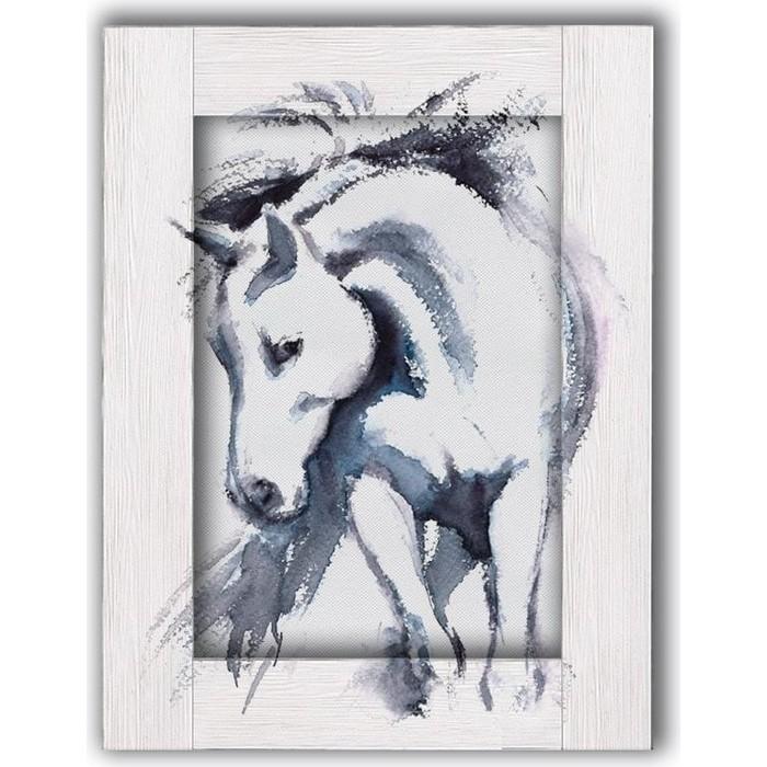 Картина с арт рамой Дом Корлеоне Лошадь 70x90 см
