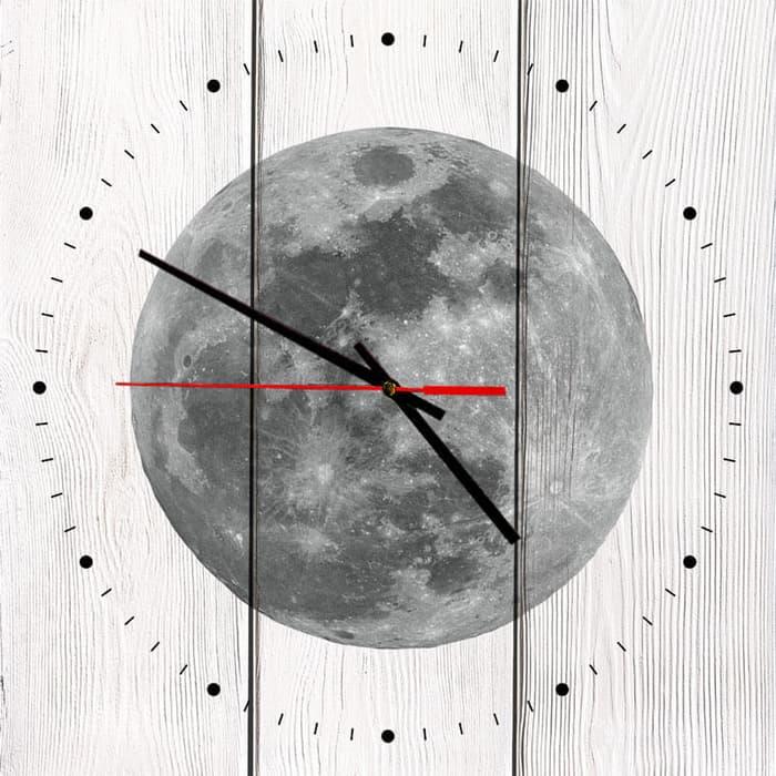 Настенные часы Дом Корлеоне Луна 60x60 см часы paprcuts watch девочка и луна 0l 00039732
