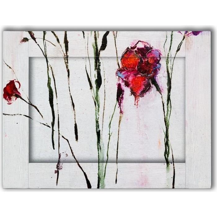 Картина с арт рамой Дом Корлеоне Маки 80x100 см картина с арт рамой дом корлеоне прогулка 80x100 см