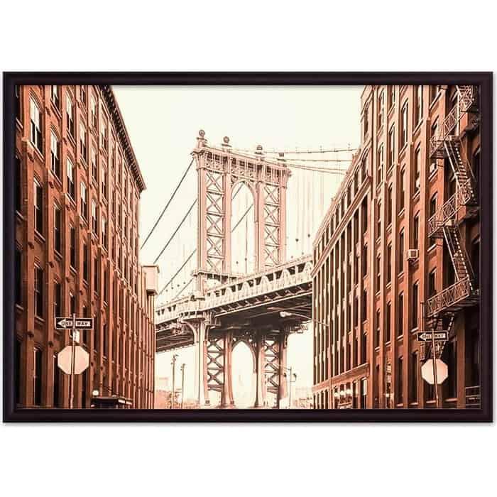 Постер в рамке Дом Корлеоне Манхэттенский мост 30x40 см