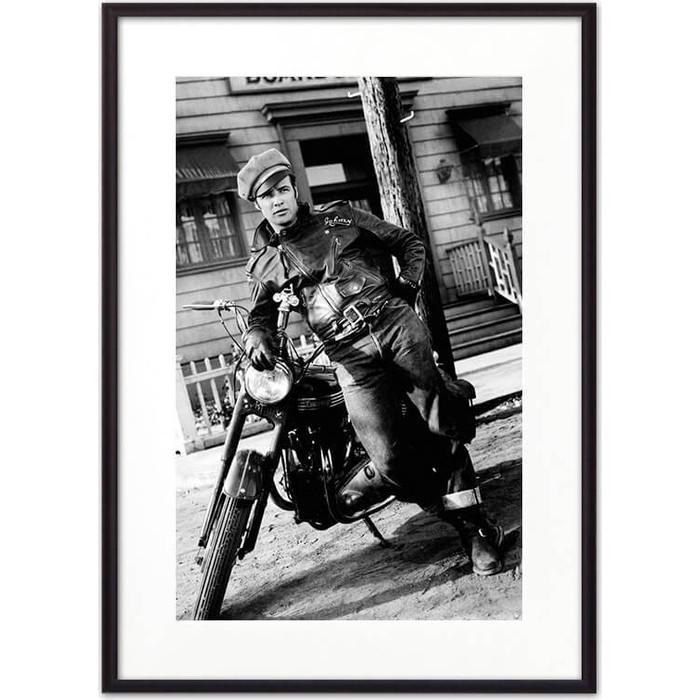 Постер в рамке Дом Корлеоне Марлон Брандо 30x40 см