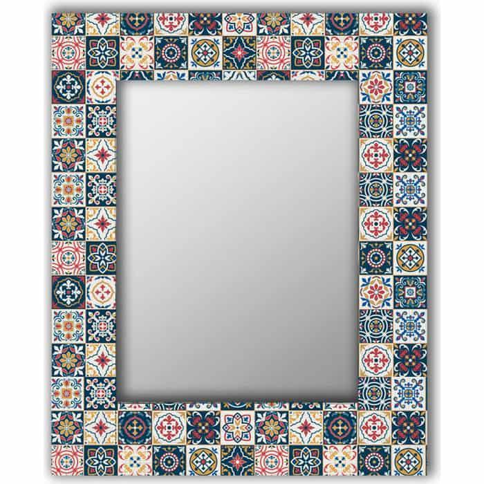 Настенное зеркало Дом Корлеоне Марокканская плитка 80x80 см