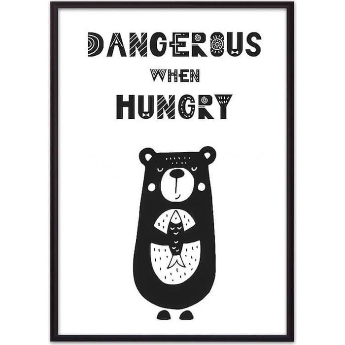 Постер в рамке Дом Корлеоне Медведь Dangerous 21x30 см