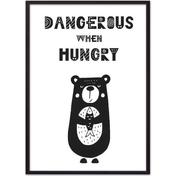 Постер в рамке Дом Корлеоне Медведь Dangerous 50x70 см