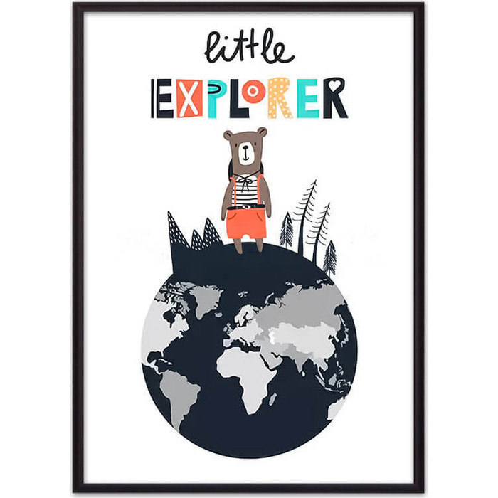Постер в рамке Дом Корлеоне Медведь Little explorer 40x60 см