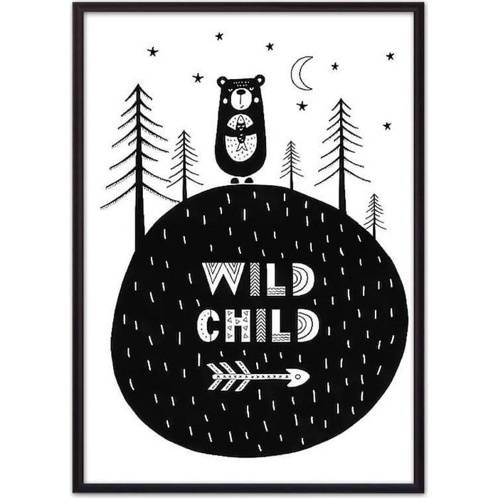 Постер в рамке Дом Корлеоне Медведь Wild child 21x30 см