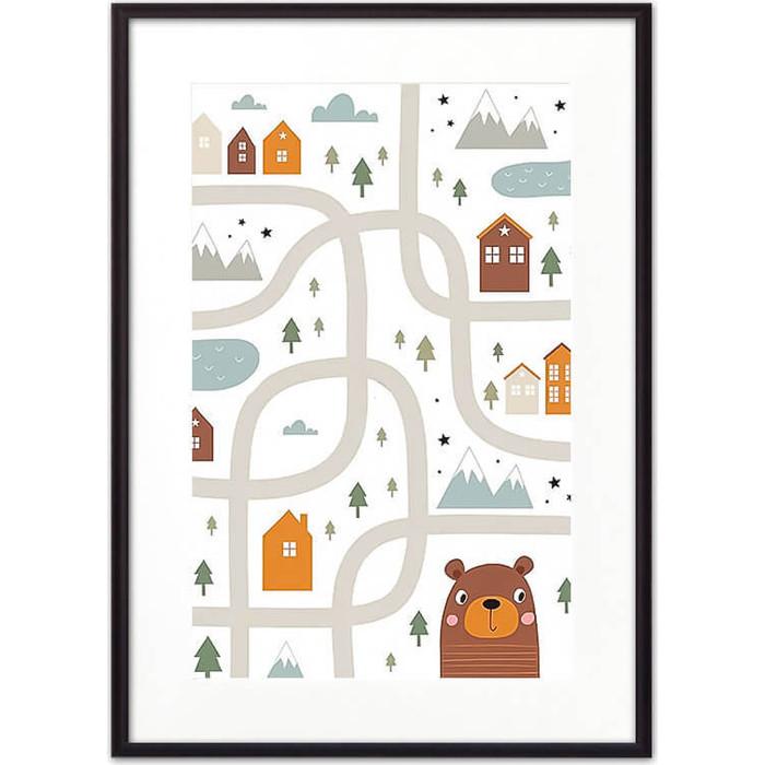 Постер в рамке Дом Корлеоне Медвежья тропа 50x70 см