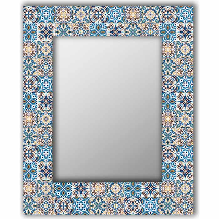 Настенное зеркало Дом Корлеоне Мексиканская плитка 50x65 см