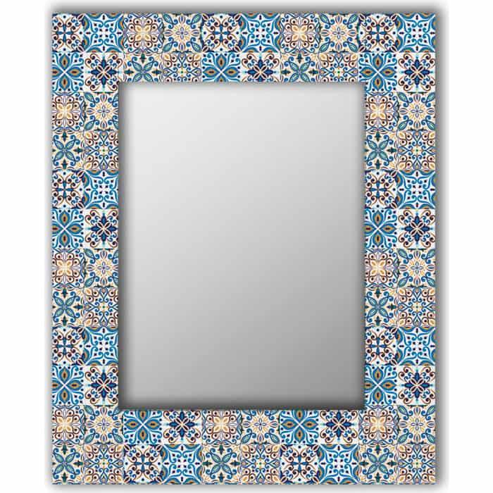 Настенное зеркало Дом Корлеоне Мексиканская плитка 80x80 см
