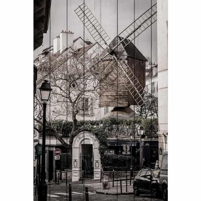 Картина на дереве Дом Корлеоне Мельница 100x150 см