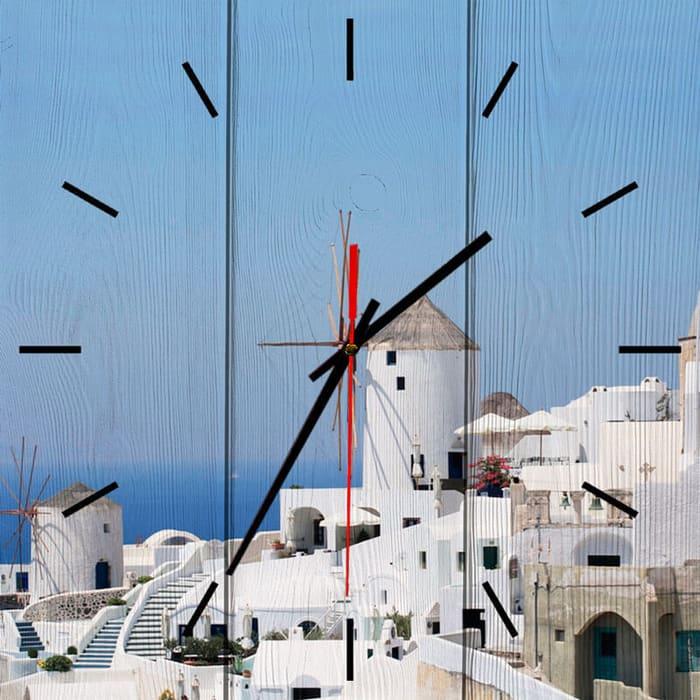 Настенные часы Дом Корлеоне Мельница Санторини 40x40 см