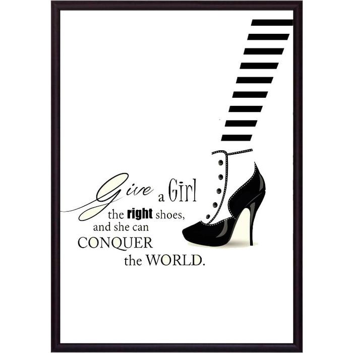 Постер в рамке Дом Корлеоне Модная обувь 50x70 см