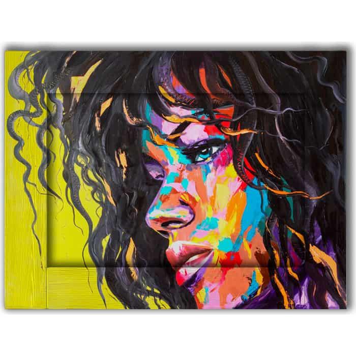 Картина с арт рамой Дом Корлеоне Молодая африканка 70x90 см
